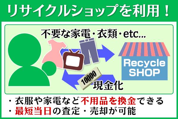 リサイクルショップを利用