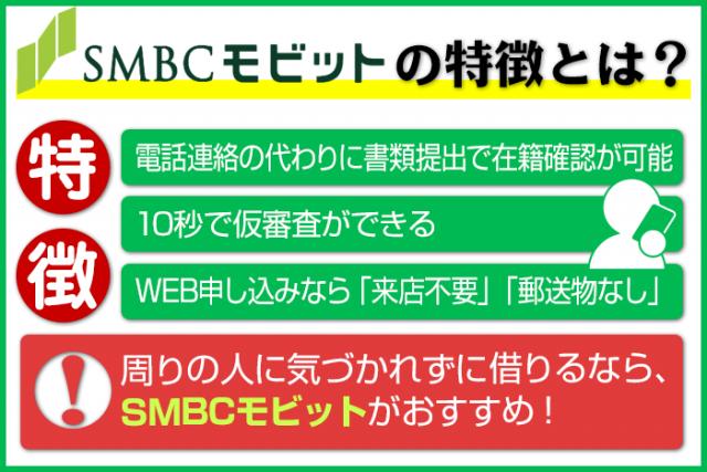 SMBCモビットの特徴