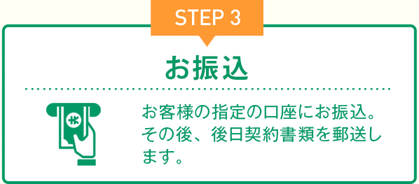 STEP3 お振込
